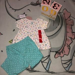 NWT Carter's Two Piece Set Shirt And Pants